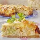 киш с курицей, сыром и овощами