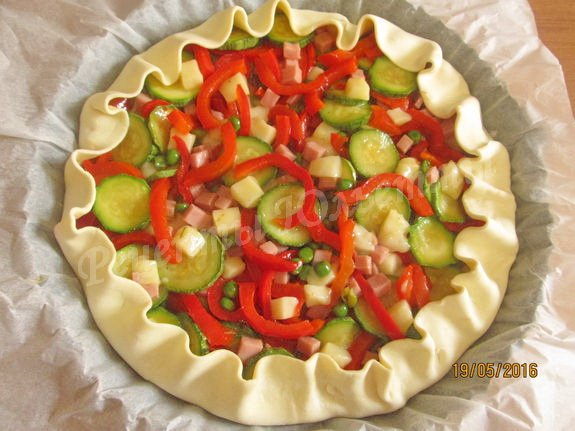 рецепт овощного киша