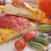 четырёхцветный овощной хлеб