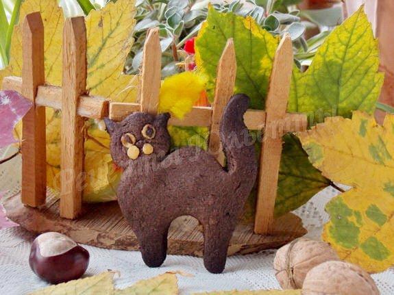 песочное печенье кот