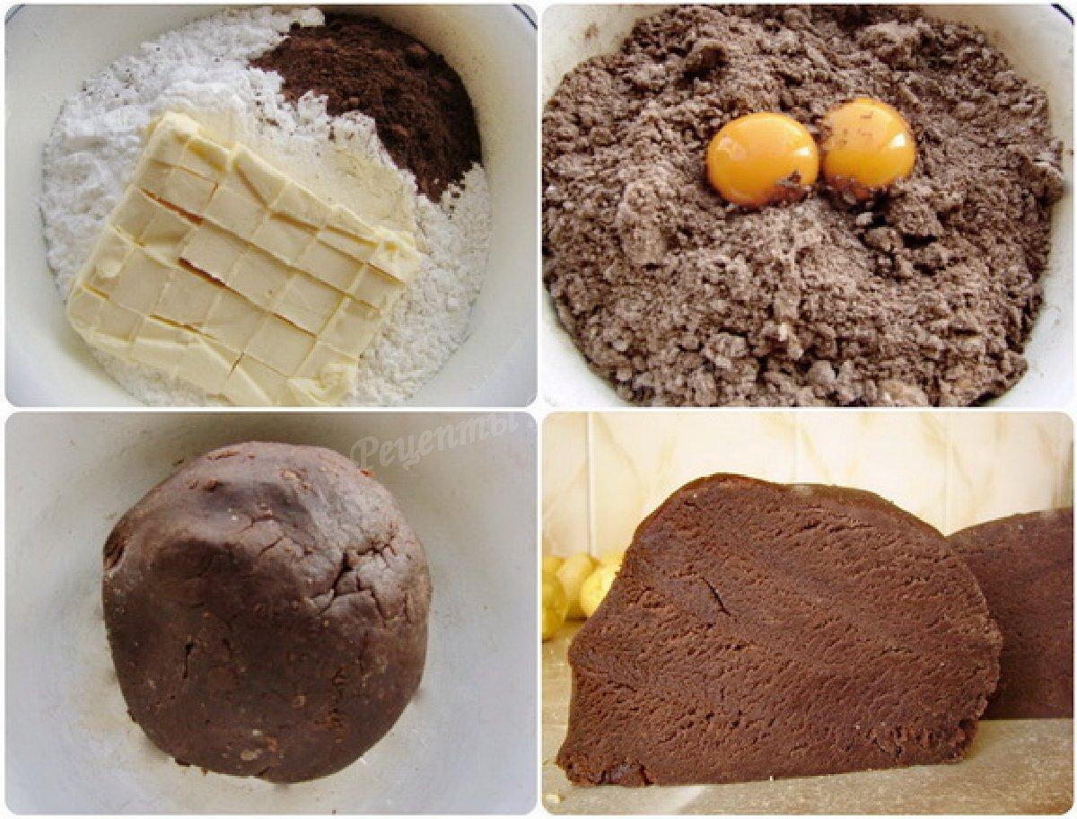готовим песочное тесто с какао