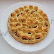 дрожжевой пирог хризантема