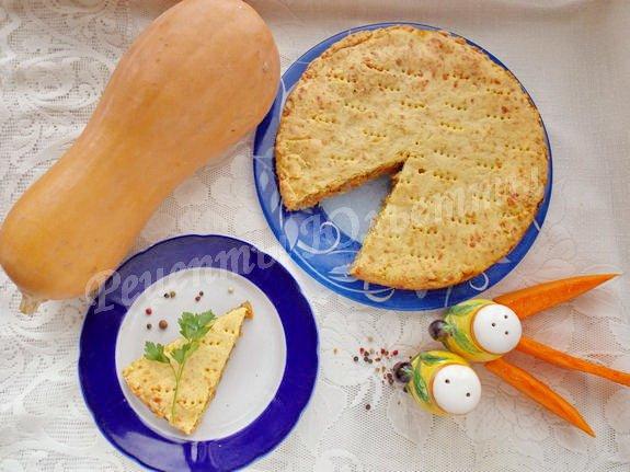 рецепт сырного пирога с тыквой и мясом