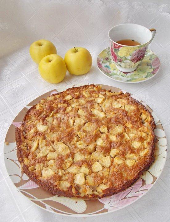 рецепт необычного пирога с яблоками