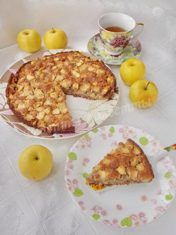 яблочный пирог с инжиром