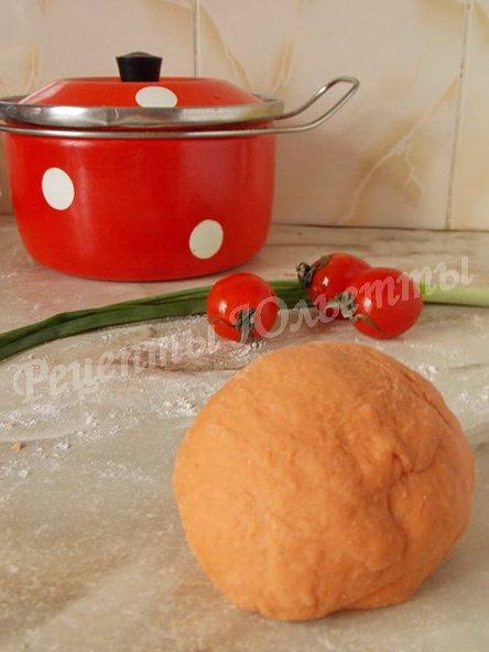 тесто для томатной лапши