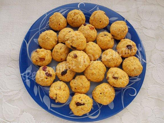 овсяное печенье с тыквенным пюре