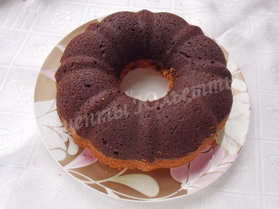рецепт шоколадно-белого кекса