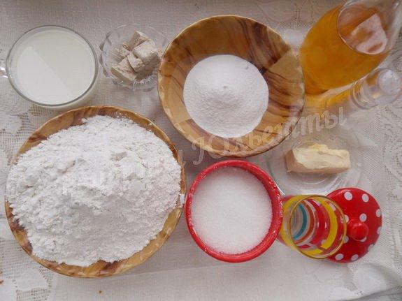 ингредиенты для булочек с рисовой мукой