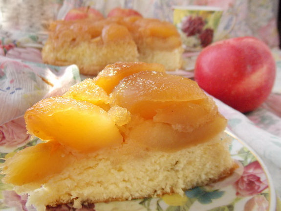 янтарный пирог с яблоками