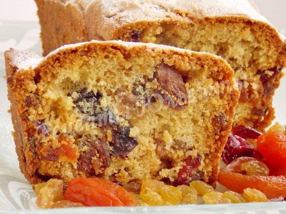рецепт кекса с сухофруктами