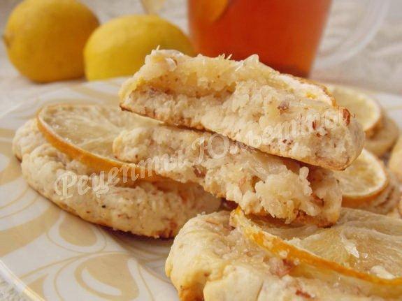 печенье с лимоном и орехами