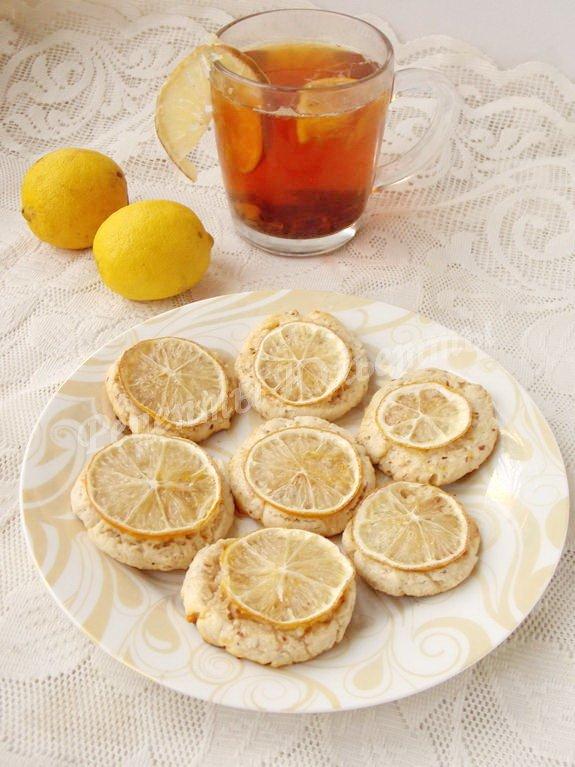 печенье с лимоном и миндалём