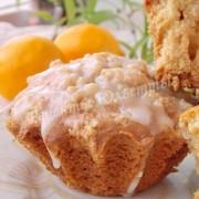 лимонные кексики со сладкой крошкой и сахарной глазурью