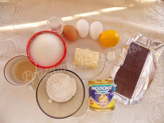ингредиенты для тортика