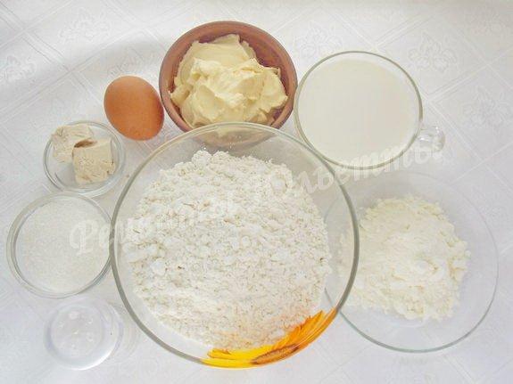 ингредиенты для молочного хлеба