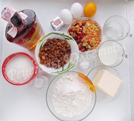 ингредиенты для панеттоне