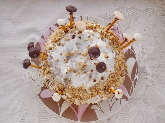 Рецепт торта трухлявый пень со сгущенкой