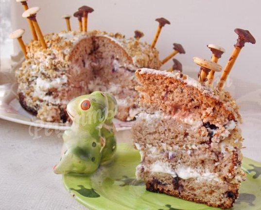 Торт трухлявый пень классический рецепт