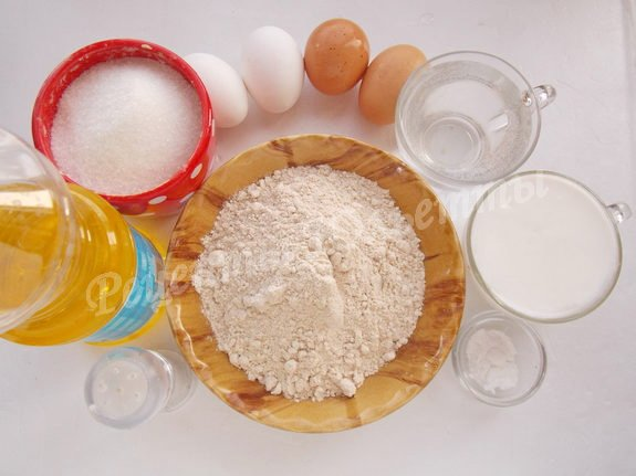 ингредиенты для полбенных блинчиков