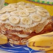 блинный торт с бананами