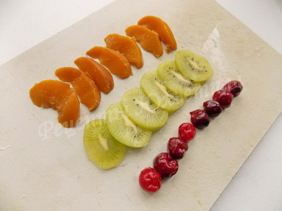 подготовим фрукты для украшения