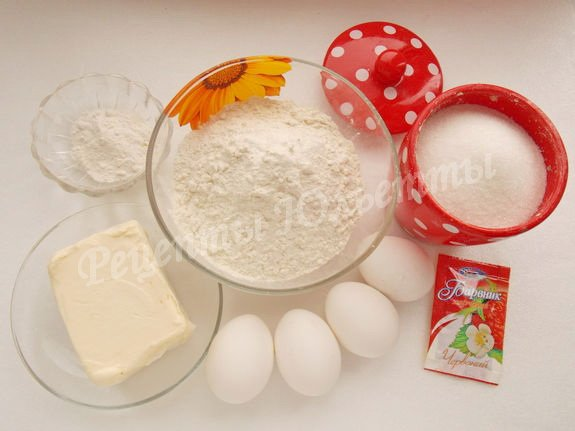 ингредиенты для кекса