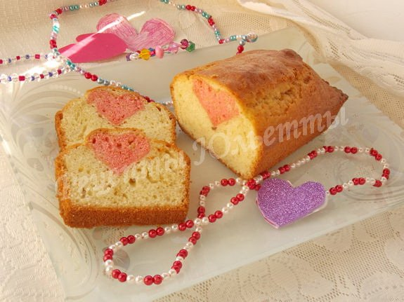 кекс с сердечком