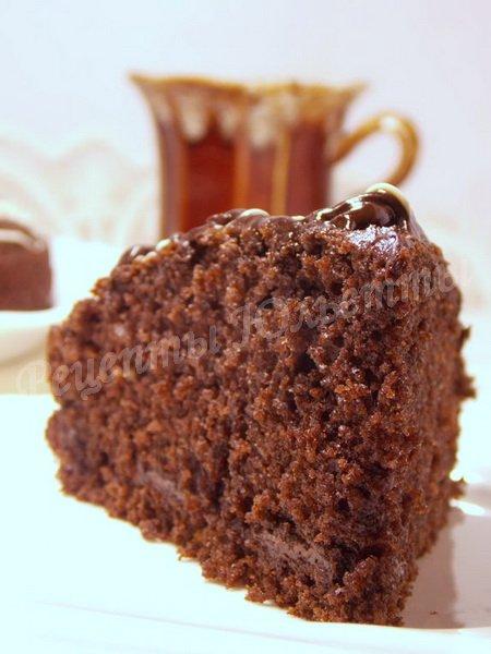 рецепт шоколадного манника на сметане