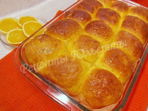 дрожжевые булочки с тыквой