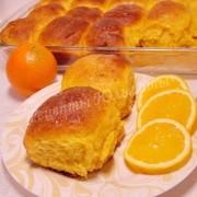тыквенные булочки с творогом и апельсином