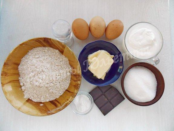 ингредиенты для полбяного кекса