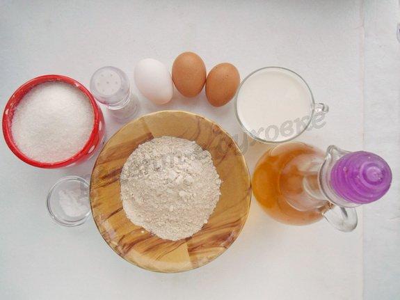 ингредиенты для оладушков