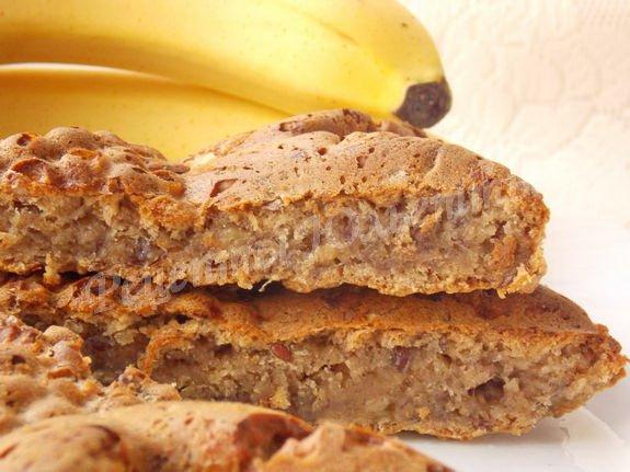 пирог с овсянкой и бананом