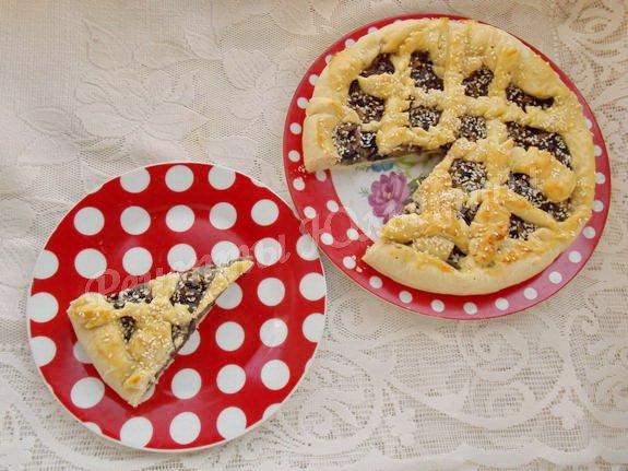 рецепт пирога с шампиньонами