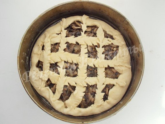 украшаем пирожок