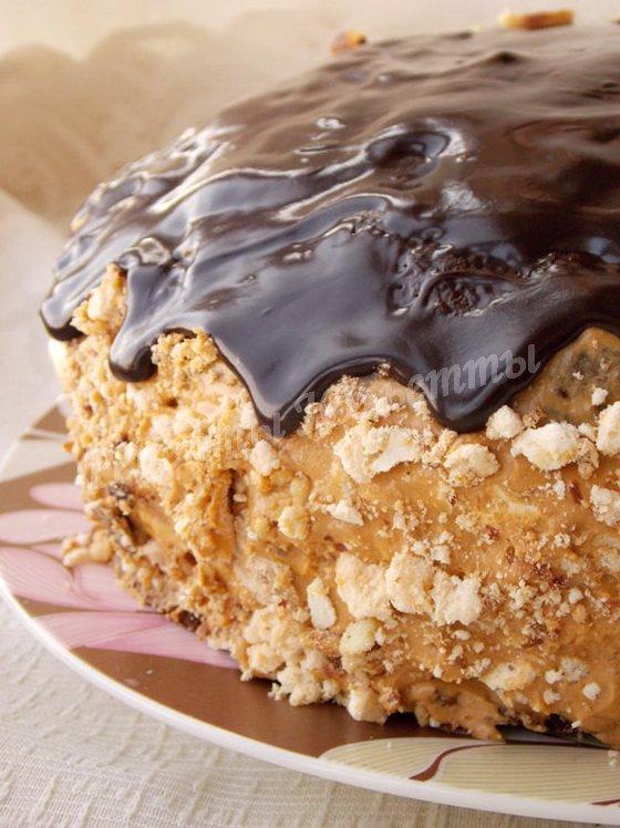 рецепт торта сникерс с арахисом