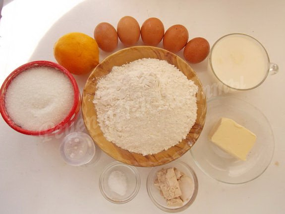 ингредиенты для австрийского хлеба