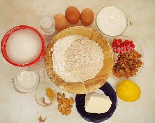 ингредиенты для  кулича на сметане