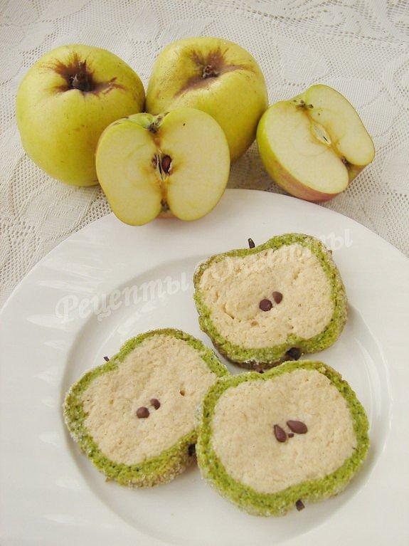 печенье зелёное яблоко