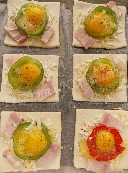 как приготовить слойки с яйцом