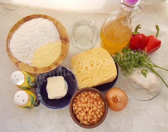 ингредиенты для буррито с курицей и фасолью