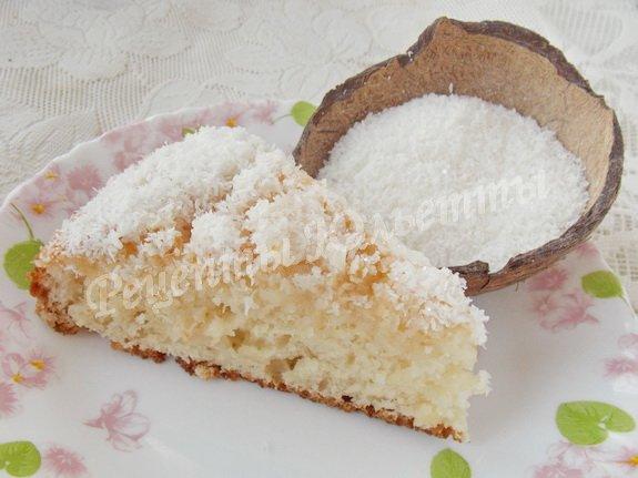 кефирно-кокосовый пирожок