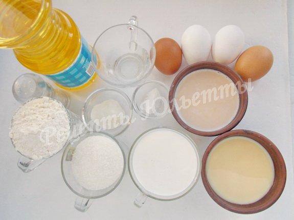 ингредиенты для торта три молока