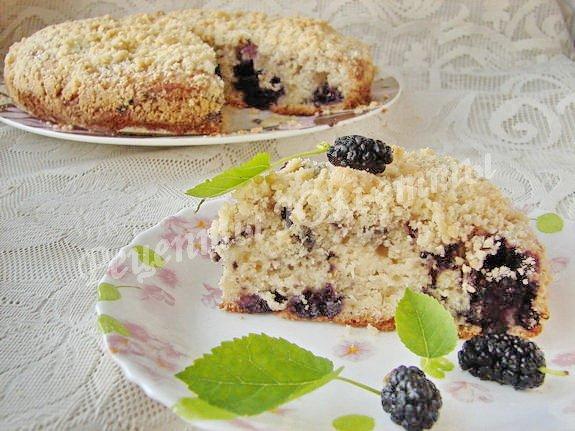 вкусный пирог с шелковицей