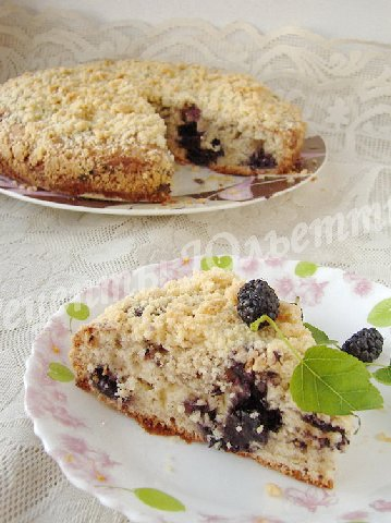 рецепт пирога с шелковицей