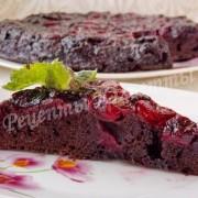 шоколадный вишнёвый пирог