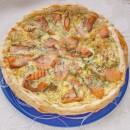 слоёный пирог с лососем