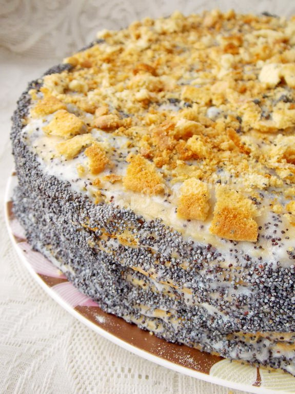 маково-медовый торт