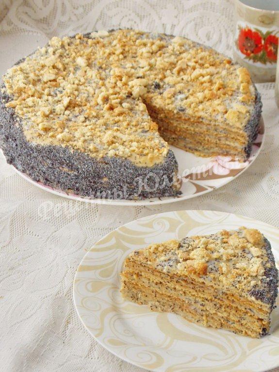 медово-маковый торт
